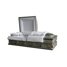 Silver Shaded Black Finish Casket (Oversize)